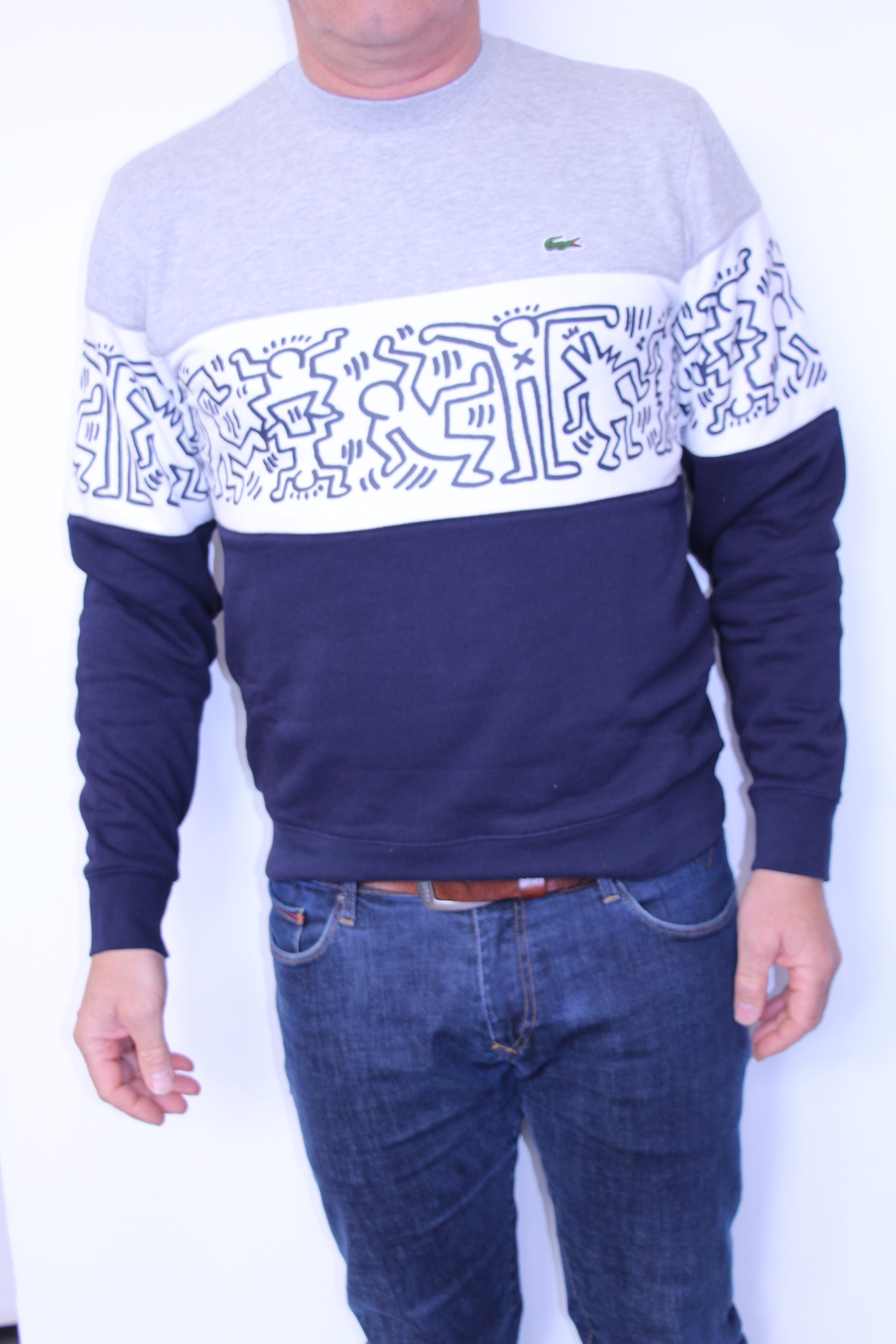 Lacoste Haring Blanc Sweat Collab Keith Marine xrCBoed