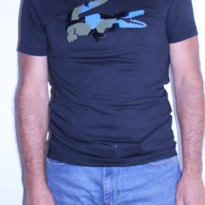 LACOSTE Tee shirt Croco Camo Noir