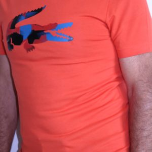 LACOSTE Tee shirt Croco Camo Orange