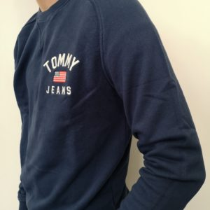 TOMMY HILFIGER Sweat washed Chest Black
