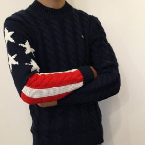 TOMMY HILFIGER Pull Maille Marine