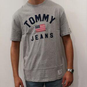 TOMMY HILFIGER Tee-shirt Drapeau Grey