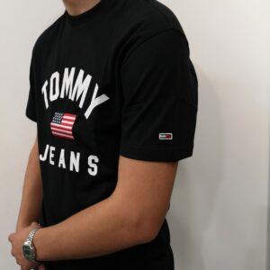 TOMMY HILFIGER Tee-shirt Drapeau Black