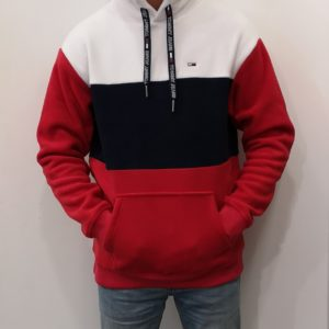 TOMMY HILFIGER Polaire capuche Navy Red