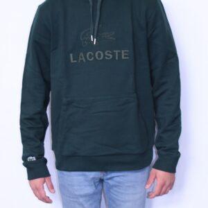LACOSTE Sweatshirt à capuche brodé vert