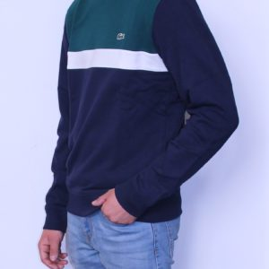 LACOSTE Sweat shirt Color Block Marine