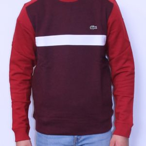 LACOSTE Sweat shirt Color Block Bordeaux