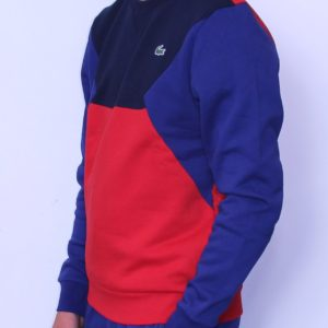 LACOSTE Sweatshirt Color Block Royal