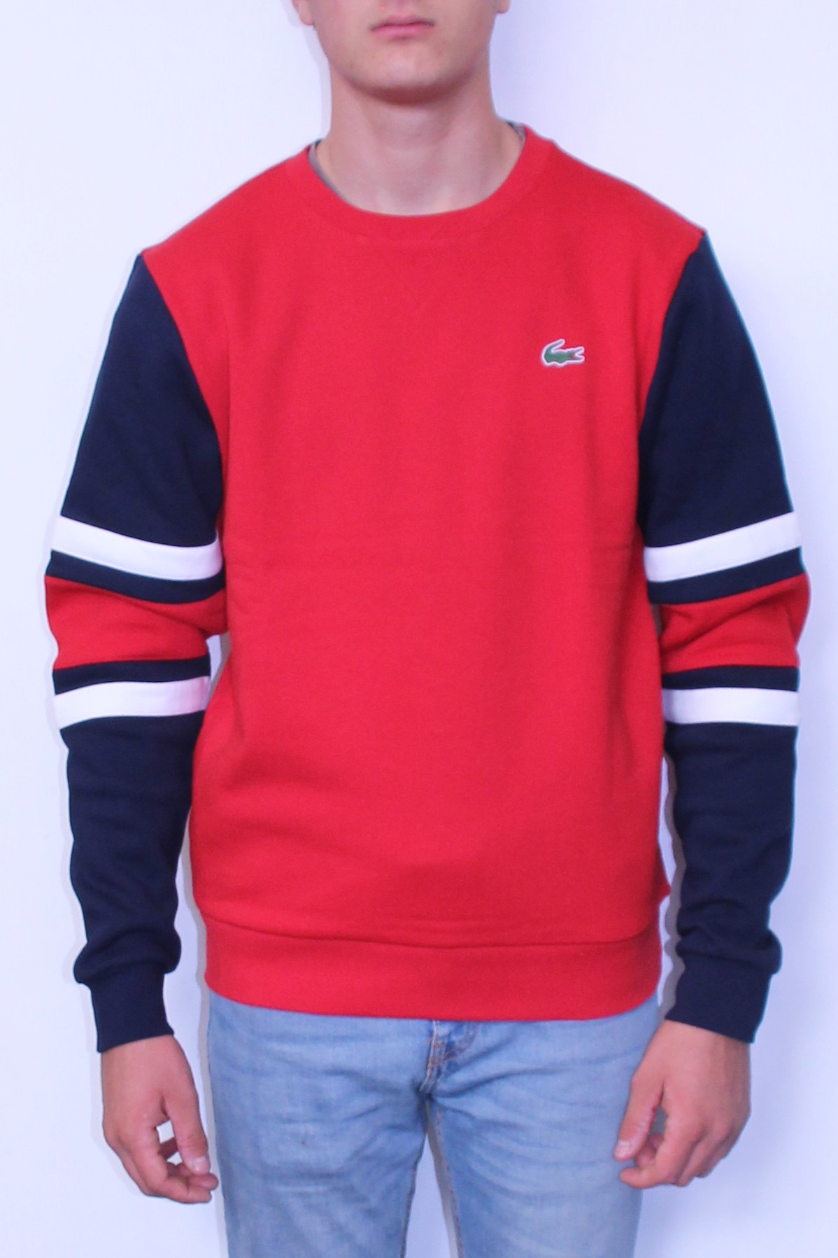 LACOSTE Sweat shirt Sport Rouge - SPORT AVENTURE