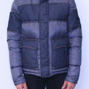 JOTT Doudoune Seattle duvet homme bleu jeans