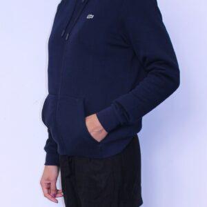 LACOSTE Sweatshirt Zippé Capuche Marine