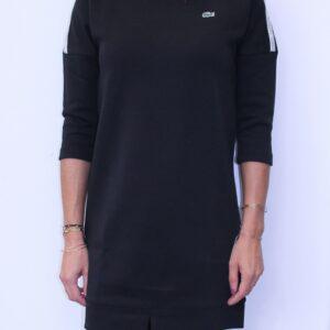 LACOSTE Robe Sweatshirt Signature Noir