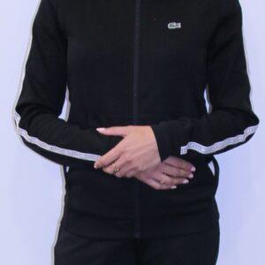 LACOSTE Veste zippée Signature Noir Femme