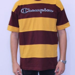 CHAMPION Tee shirt rayé bi-colore