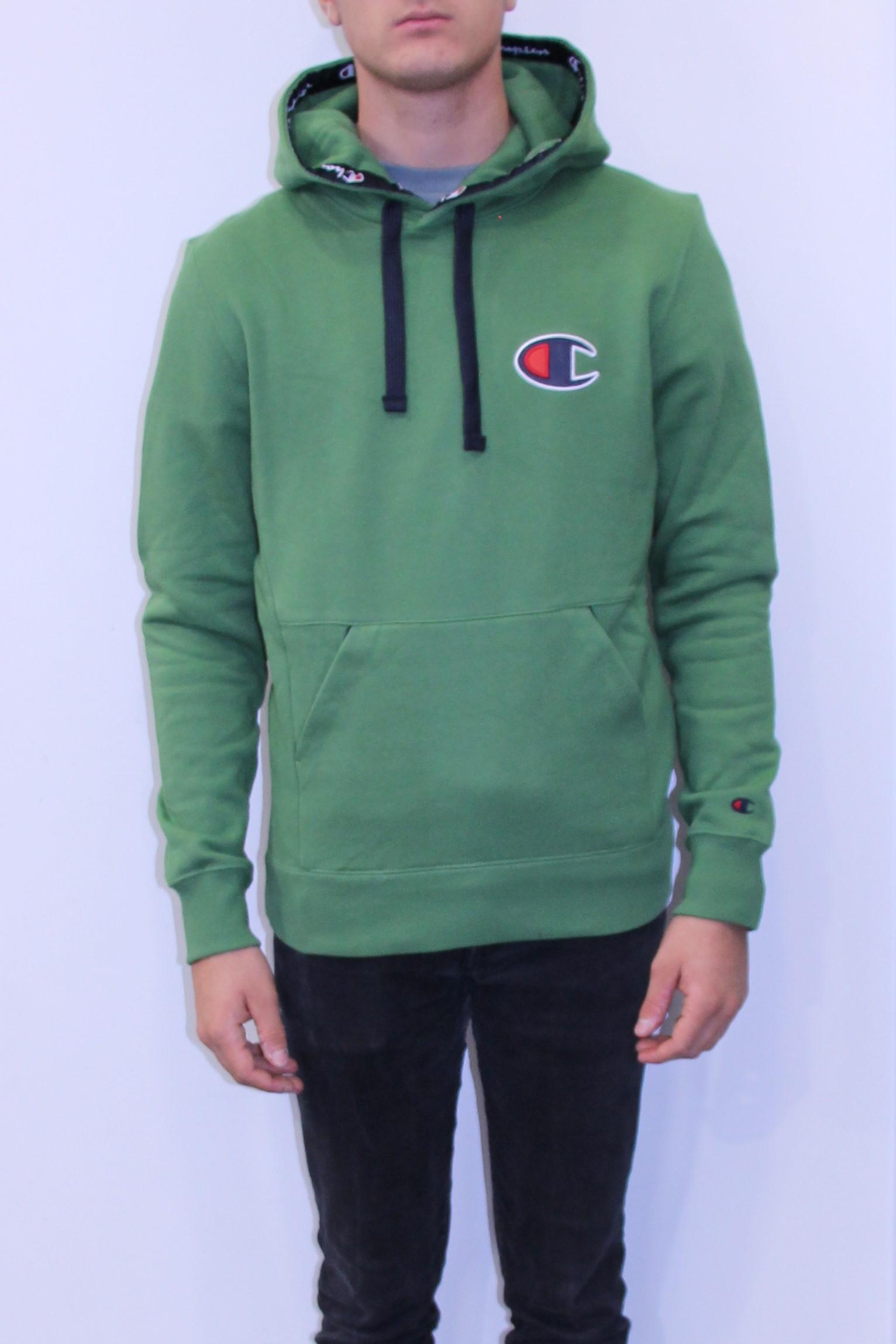 CHAMPION Sweatshirt capuche logo C vert