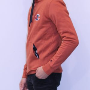 CHAMPION Sweatshirt capuche Logo C Orange