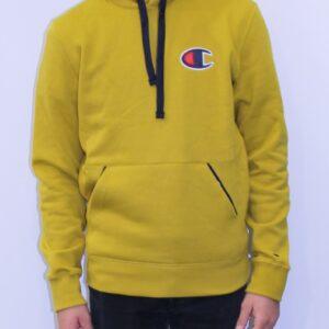 CHAMPION Sweatshirt capuche logo C jaune