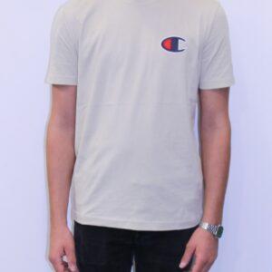 CHAMPION Tee shirt logo C crème