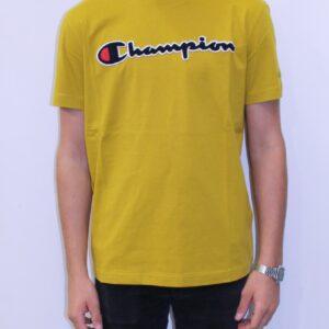 CHAMPION Tee shirt logo jaune