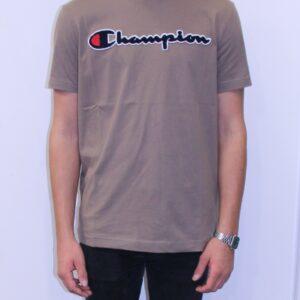 CHAMPION Tee shirt logo beige