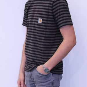 CARHARTT WIP Tee shirt Haldon Black Cypress