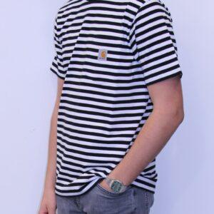 CARHARTT WIP Tee shirt Haldon Black White