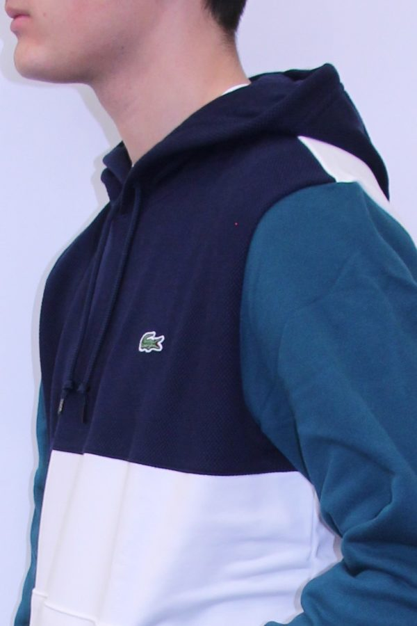 sweatshirt color block Lacoste