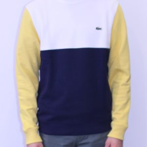 LACOSTE Sweatshirt Colorblock Tricolore