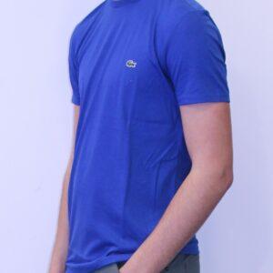LACOSTE  Tee Shirt Col Rond Coton Pima Bleu