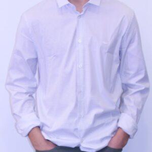 LACOSTE Chemise Coton Imprimé Blanc