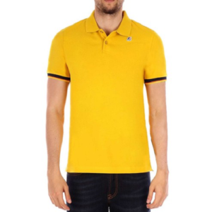 K WAY Polo Vincent Contrast Jaune