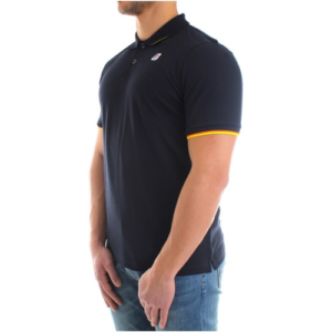 K WAY Polo Vincent Contrast Marine