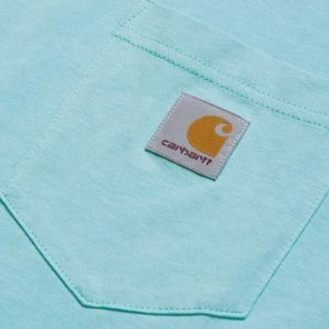 CARHARTT WIP Tee-Shirt S/S Pocket Bleu