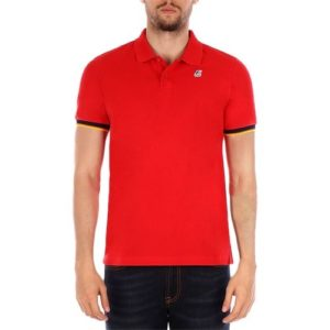 K WAY Polo Vincent Contrast Rouge