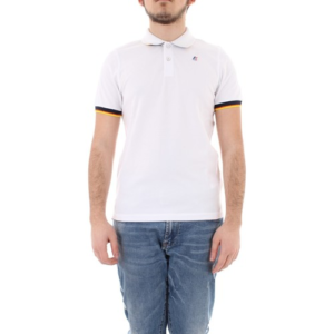 K WAY Polo Vincent Contrast Blanc