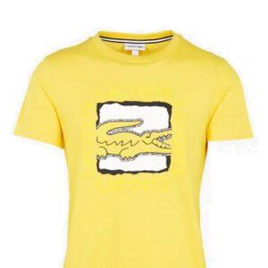 LACOSTE Tee-shirt Imprimé 3D Jaune