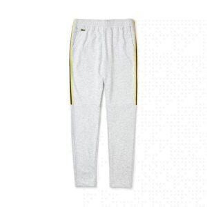 LACOSTE Pantalon Sport Bandes Contrastées Gris