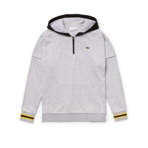 LACOSTE Sweatshirt Sport à Capuche Gris