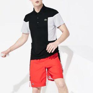 LACOSTE Polo Sport Black White