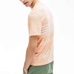 LACOSTE Tee-Shirt Col Rond Rose