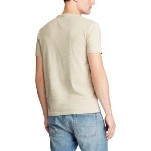 RALPH LAUREN Tee Shirt Col Rond Slim Dune