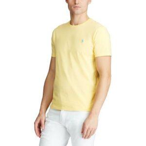 RALPH LAUREN Tee Shirt Col Rond Slim Yellow