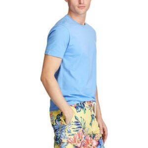 RALPH LAUREN Tee Shirt Col Rond Slim Blue