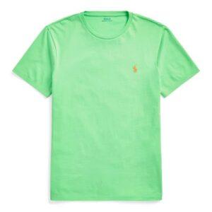 RALPH LAUREN Tee Shirt Col Rond Slim Green