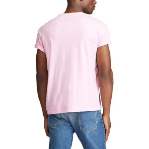 RALPH LAUREN Tee Shirt Col Rond Slim Pink