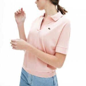 LACOSTE Polo Femme Fluide Rose pâle