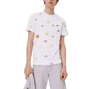 LACOSTE T-Shirt Unisexe Coton Friendswithyou Blanc