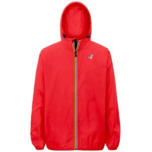 K WAY Coupe vent Le Vrai Claude 3.0 rouge fluo