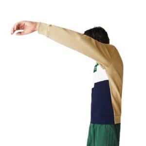 LACOSTE Sweatshirt molleton col rond marine