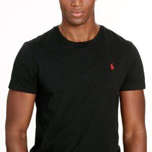 RALPH LAUREN Tee Shirt Col Rond Slim Black